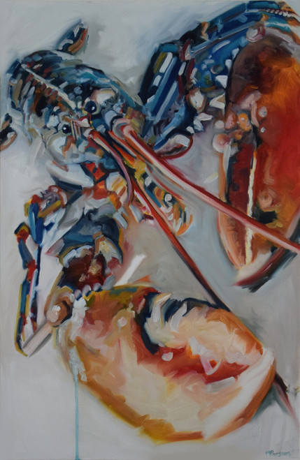 RBL by Michelle Parsons. 2021. Oil on canvas. Expressive Organic.