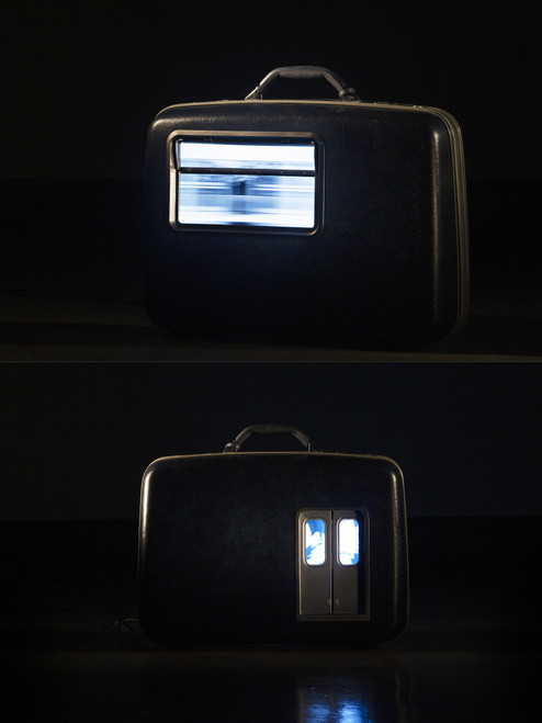 Substituted Density I by Cha Minyoung. 2020. Synthetic resin, Polycarbonate, LCD monitor etc Video Sculpture.