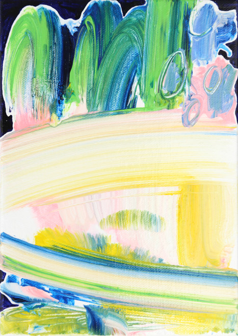 Thin line by Jeon Heekyoung. 2020. acrylic on canvas. abstract, landscape, brush stroke.
