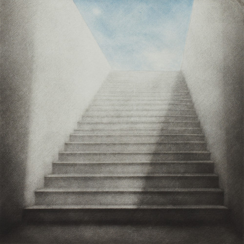 J'attends (I am waiting) 2012 by HeeKyung Chung. 2013. Printmaking - mezzotint on Hahnemuhle paper