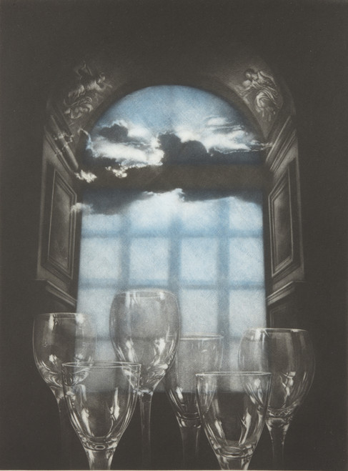 La Transparence ll (Transparency ll) 2009 by HeeKyung Chung. Printmaking - mezzotint on Hahnemuhle paper