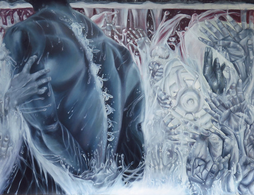 Black Body I by Crystal Marshall. 2020. Oil on Paper