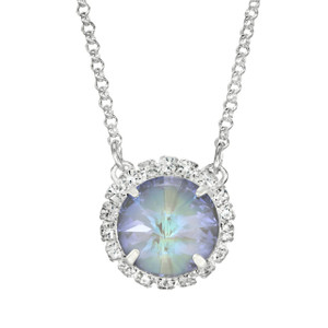 Arctic Grey Glam Party Necklace