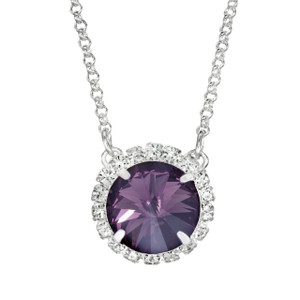 Dark Purple Glam Party Necklace