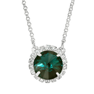 Emerald Glam Party Necklace