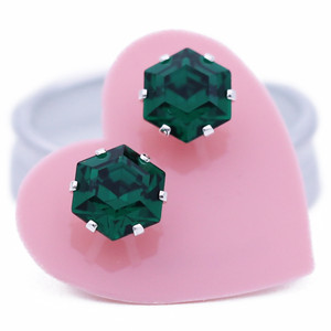 Emerald Mini Hexagon Bling