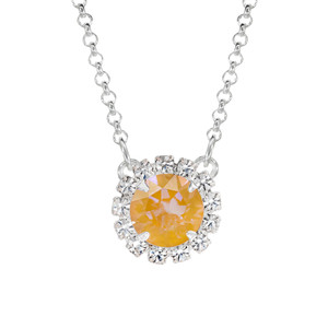 Sparkly Mustard Mini Party Necklace