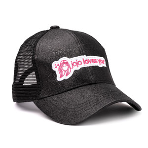 Black Sparkle JoJo Logo Hat