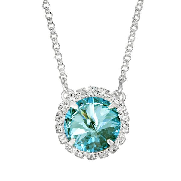 Aqua Bohem Glam Party Necklace