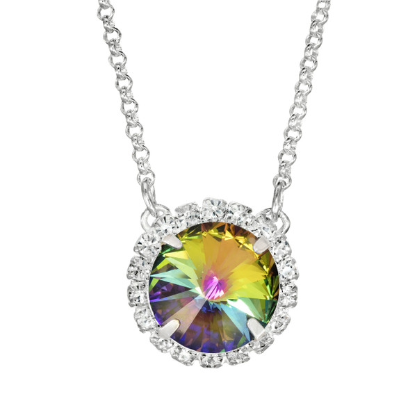 Heliotrope Glam Party Necklace