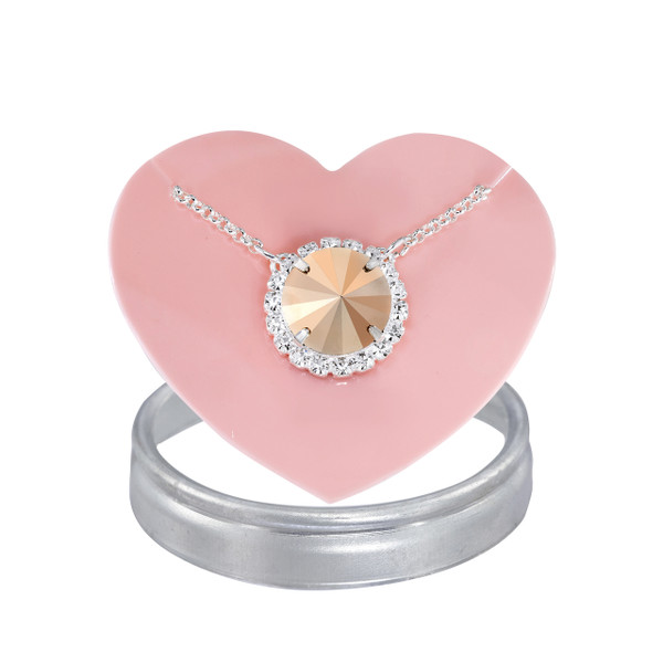 Metallic Rose Gold Glam Party Necklace