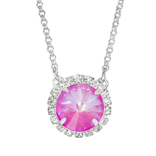 Neon Pink Glam Party Necklace