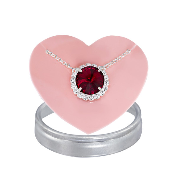 Ruby Glam Party Necklace