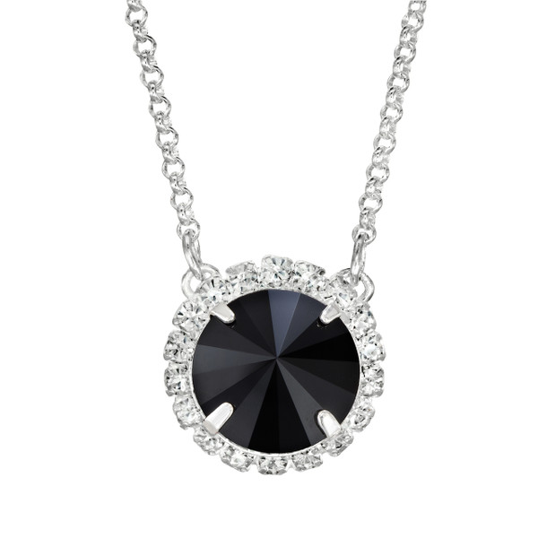 Flat Black Glam Party Necklace