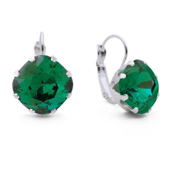 Emerald Leverback Bling