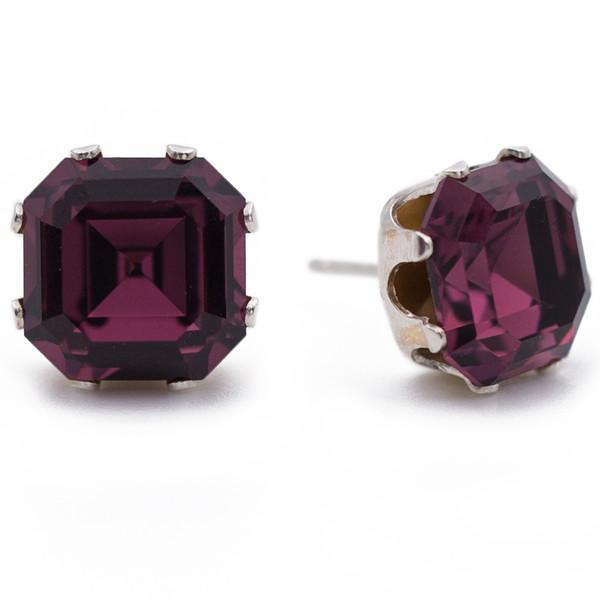 Dark Purple Asscher Bling