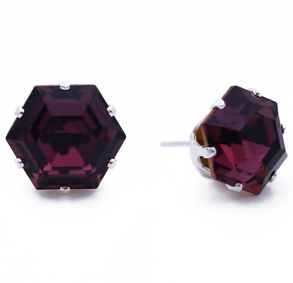 Dark Purple Hexagon Bling