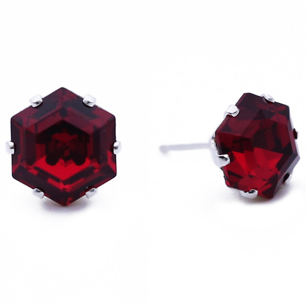 Ruby Mini Hexagon Bling