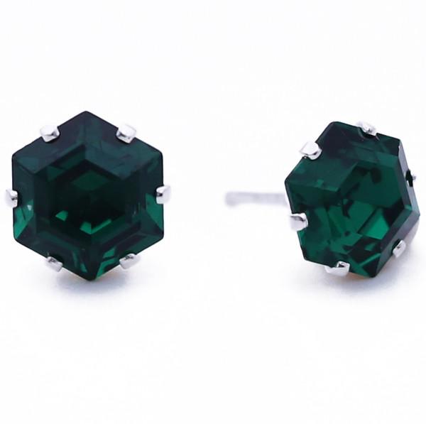 Emerald Mini Hexagon Bling