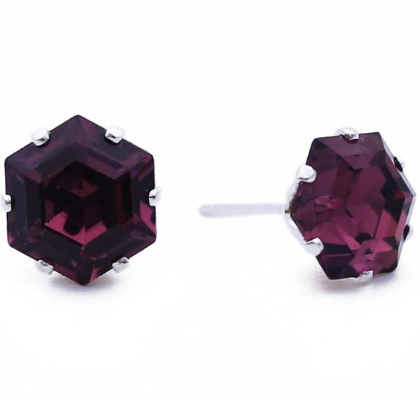 Dark Purple Mini Hexagon Bling