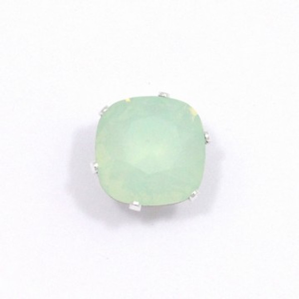 Chrysolite Opal Cushion Bling