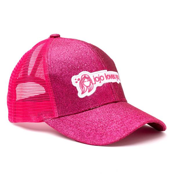 Pink Sparkle JoJo Logo Hat