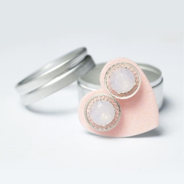 Pink Opal Filigree Mini Bling