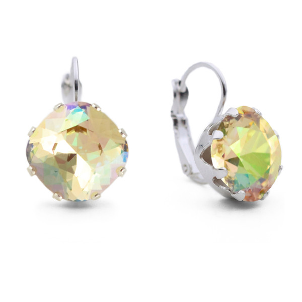 Topaz with Pink Leverback Bling