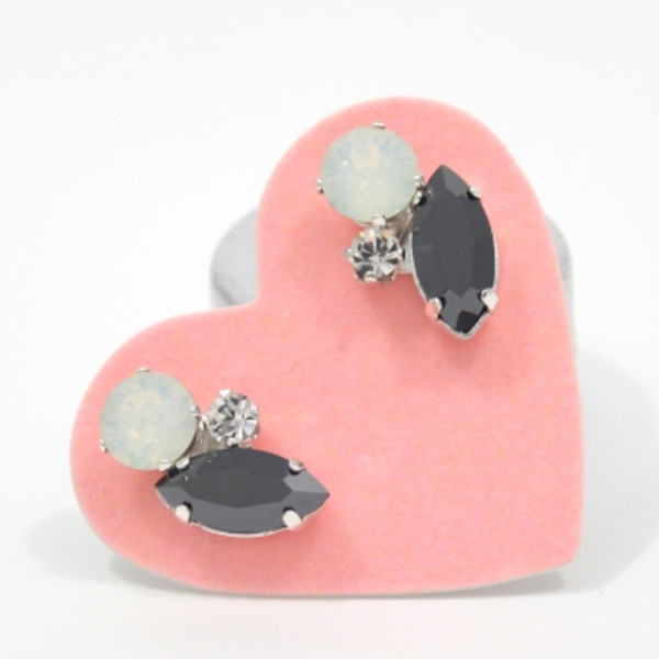 Opal & Gunmetal Cluster Bling