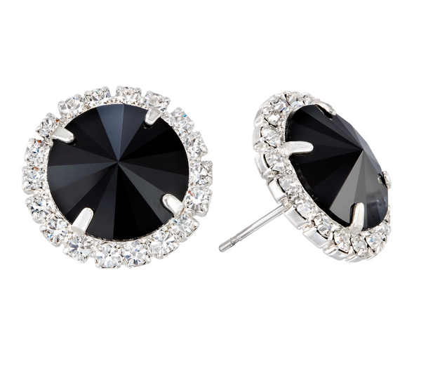 Flat Black Glam Party Bling