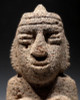 PC098 - MUSEUM-CLASS COLOSSAL PORTABLE ART PRE-COLUMBIAN STONE SHAMAN FIGURE IN TRANCE FROM CENTRAL AMERICA