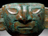 PCX002 - EXCEPTIONAL LIFE-SIZE INTACT ANCIENT PRE-COLUMBIAN DEATH MASK OF HAMMERED TUMBAGA GOLD