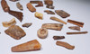 COLLECTION OF 40 FOSSIL DINOSAUR AND REPTILE TEETH AND BONES  *BONELOT10