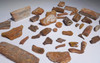 COLLECTION OF NICE 40 FOSSIL DINOSAUR AND REPTILE TEETH AND BONES  *BONELOT12