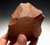 RED AFRICAN MUSEUM-GRADE OLDOWAN PEBBLE AXE WITH INGENIOUS DOUBLE GRIP DESIGN *PB126