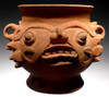 HUGE UNBROKEN MAYAN RITUAL URN OF THE RAIN GOD ASSOCIATED WITH HUMAN SACRIFICE  *PC256