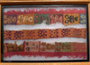 PRE-COLUMBIAN GROUP OF THREE ANCIENT BORDER TEXTILES FEATURING ANCIENT ALIENS?  *PCT001