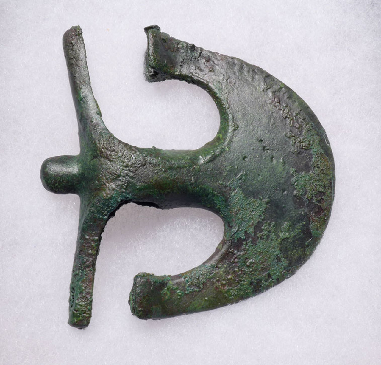 NE150  - RARE ANCIENT BRONZE LURISTAN CRESCENT ANCHOR AXE FROM THE NEAR EASTERN LURISTAN CULTURE