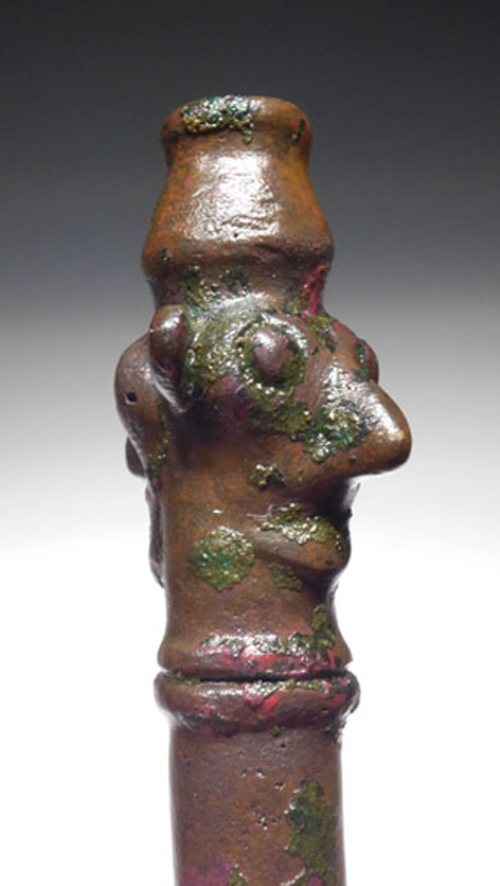 NE146 - ANCIENT BRONZE DOUBLE-HEADED FIGURAL IDOL FROM THE LURISTAN NEAR EASTERN BRONZE CULTURE