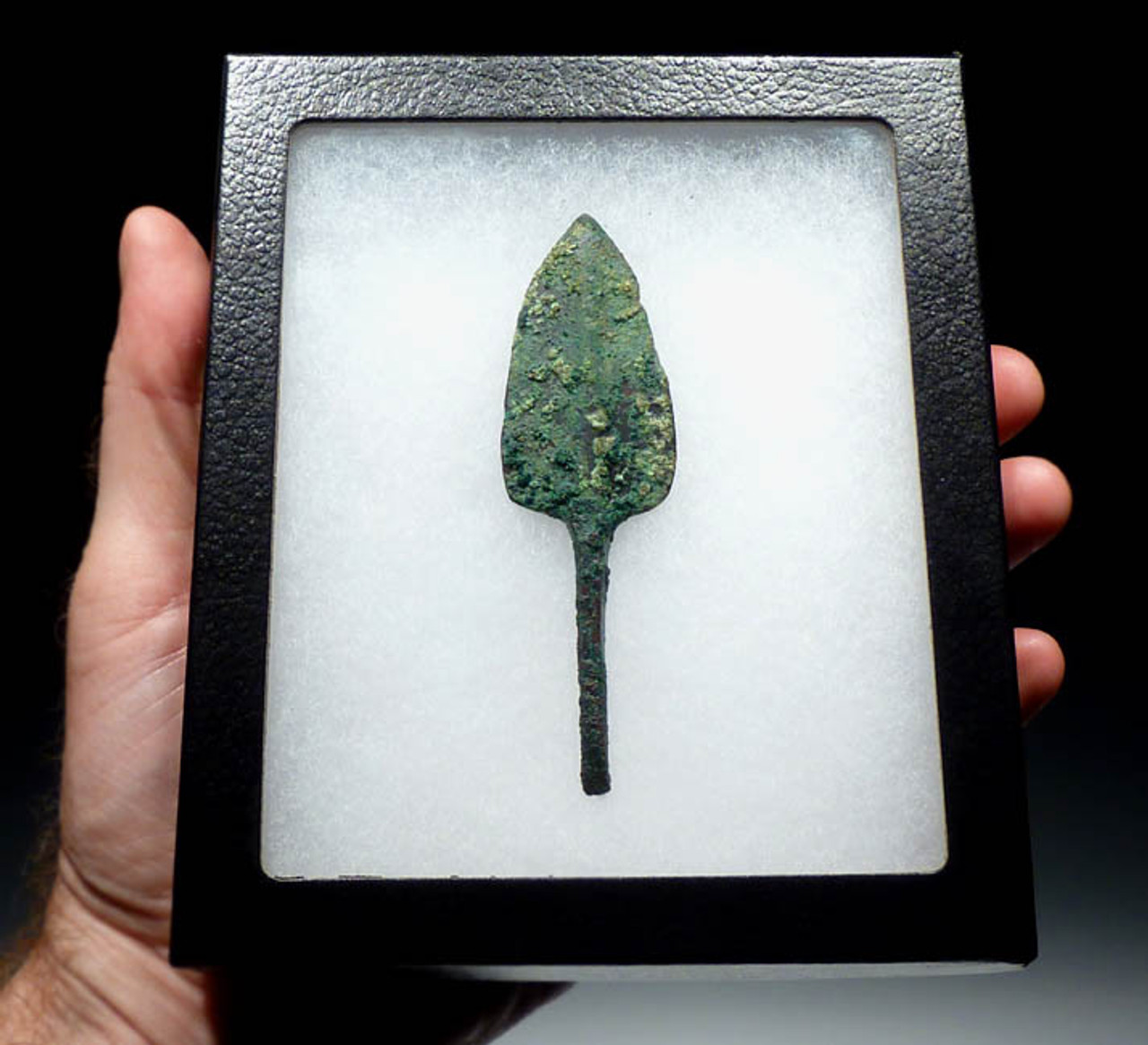 LUR085 - LARGE ANCIENT BRONZE NEAR EASTERN ARROWHEAD FROM THE LURISTAN CULTURE