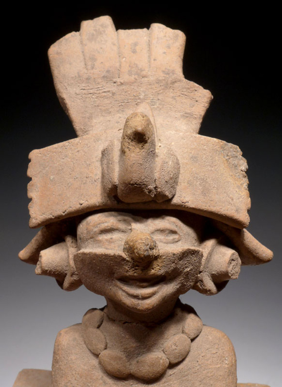 PCX005 - EERIE CERAMIC TLAZOTEOTL AZTEC PRE-COLUMBIAN GODDESS OF SIN, EXCESS AND FORGIVENESS