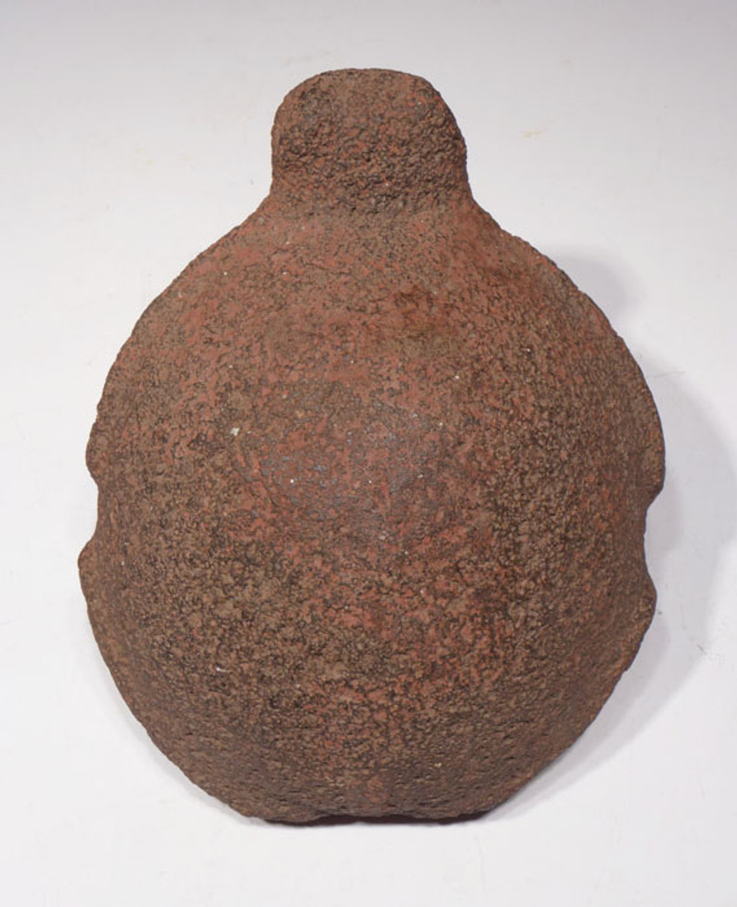 PCX001 -  PRE-COLUMBIAN TURTLE EFFIGY MILL GRINDING STONE WITH ORIGINAL RED CINNABAR PIGMENT FROM CENTRAL AMERICA