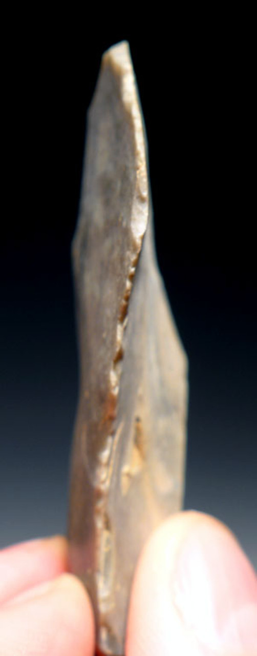 M310 - EXCELLENT MOUSTERIAN NEANDERTHAL FLINT BACKED KNIFE FROM FRANCE
