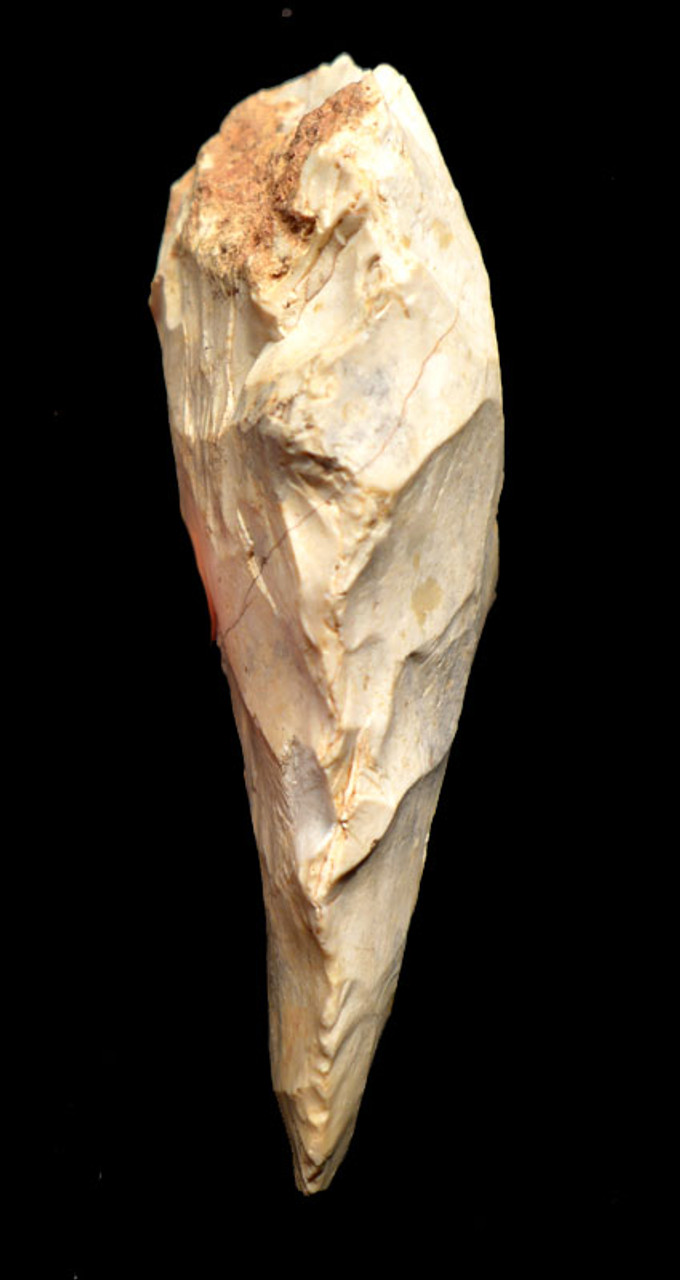 M330 - EXCEPTIONAL NEANDERTHAL MOUSTERIAN FLINT BIFACIAL HANDAXE FROM FRANCE