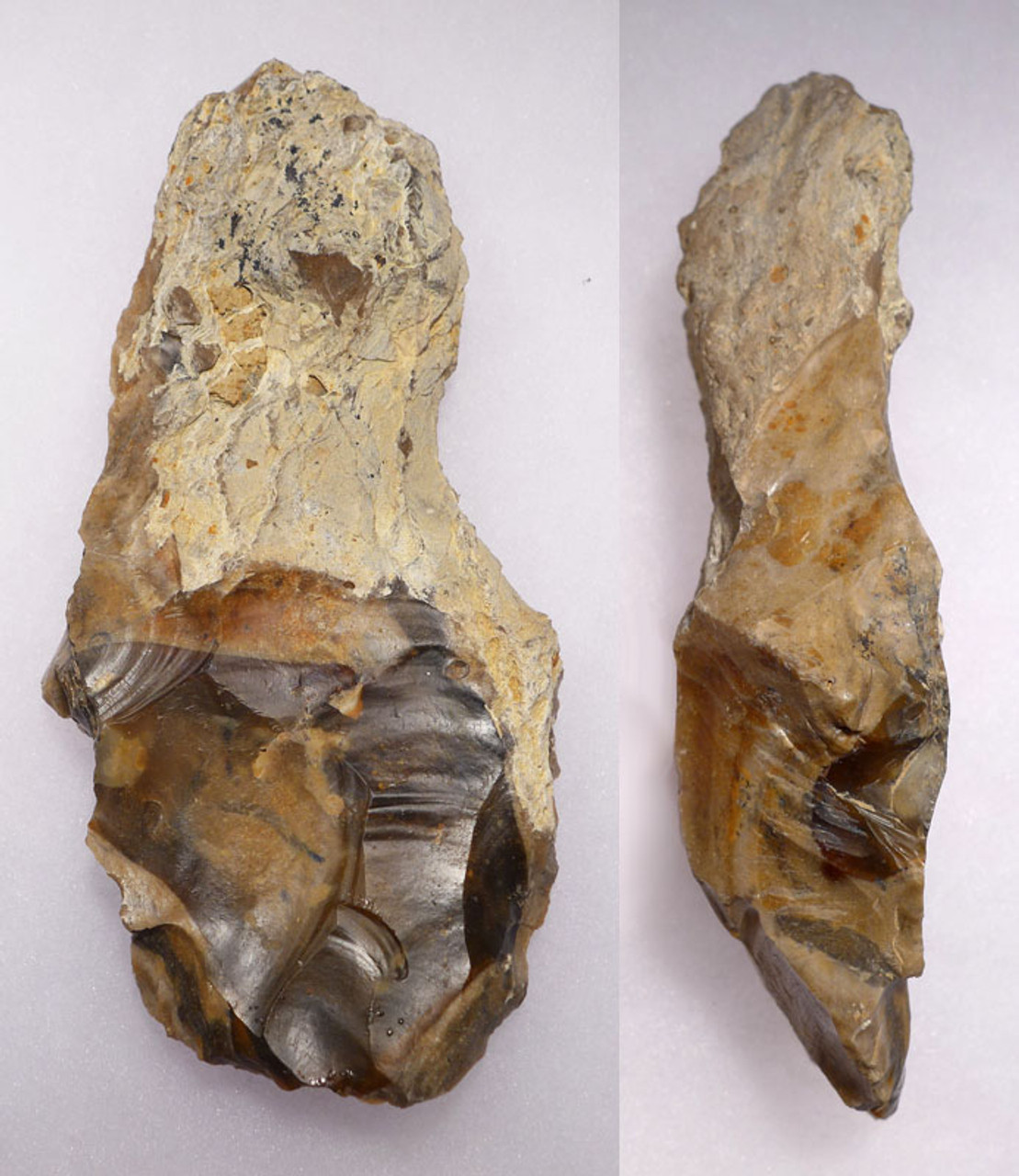 ACH205 - ULTRA RARE ACHEULIAN LOWER PALEOLITHIC HAND AXE FROM FAMOUS SITE IN ENGLAND