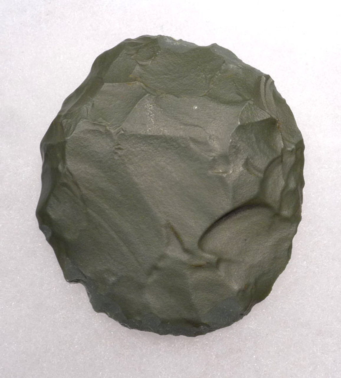 TEN001 - TENERIAN AFRICAN NEOLITHIC GREEN JASPER DISC SCRAPER FROM THE PEOPLE OF THE GREEN SAHARA
