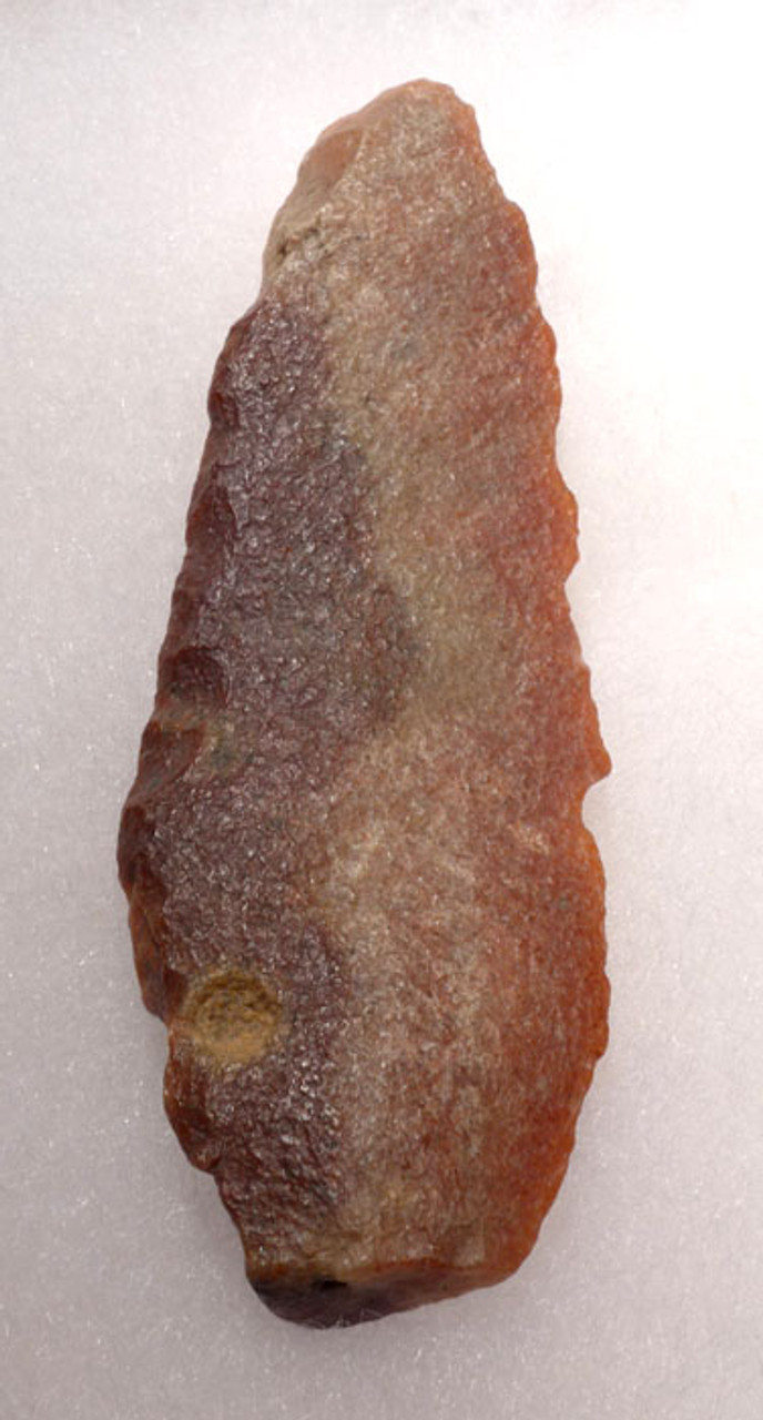 CAP188 - TENERIAN AFRICAN NEOLITHIC RED STONE FLAKE SAW TOOL FROM THE PEOPLE OF THE GREEN SAHARA