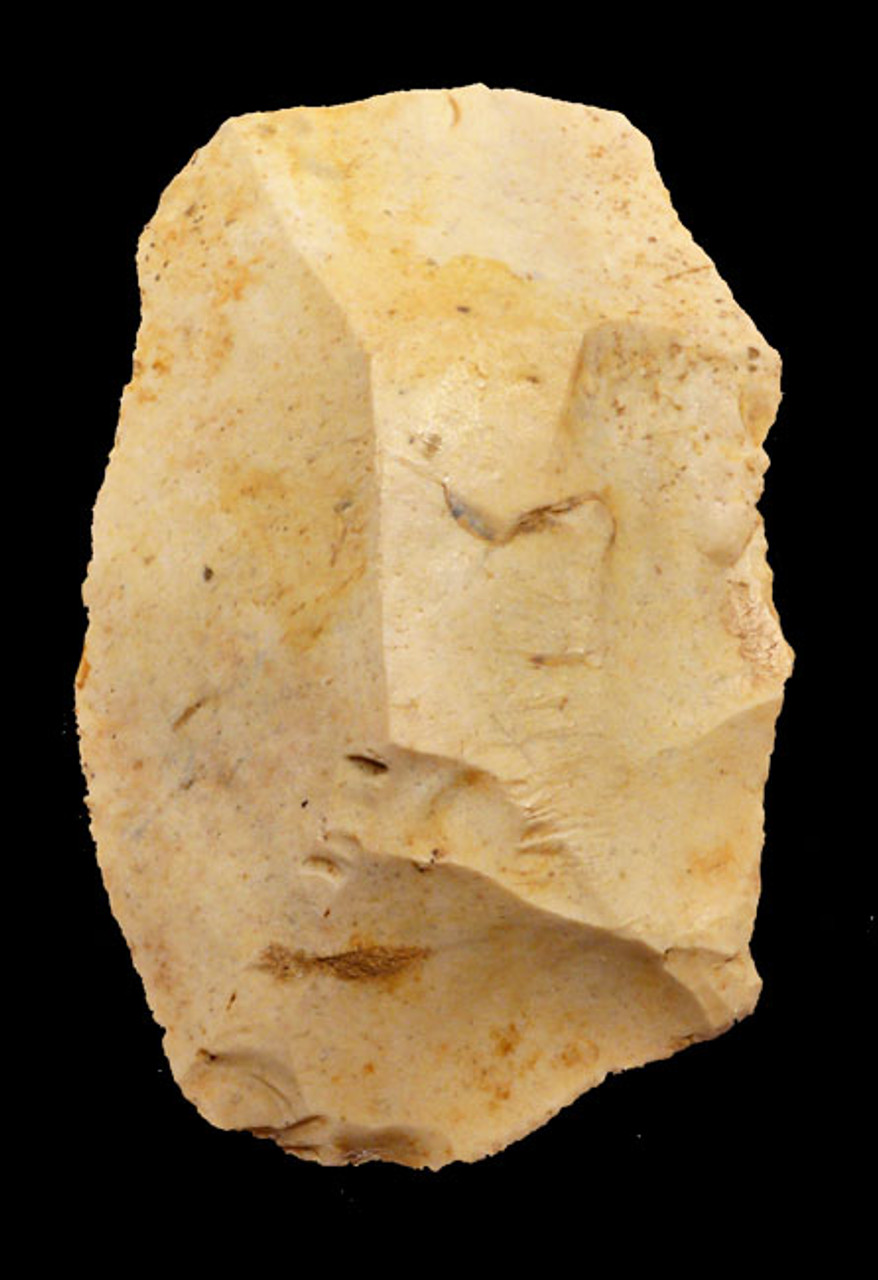 M338 - MOUSTERIAN NEANDERTHAL STONE TOOL SCRAPER MADE ON A LEVALLOIS FLAKE FROM FRANCE