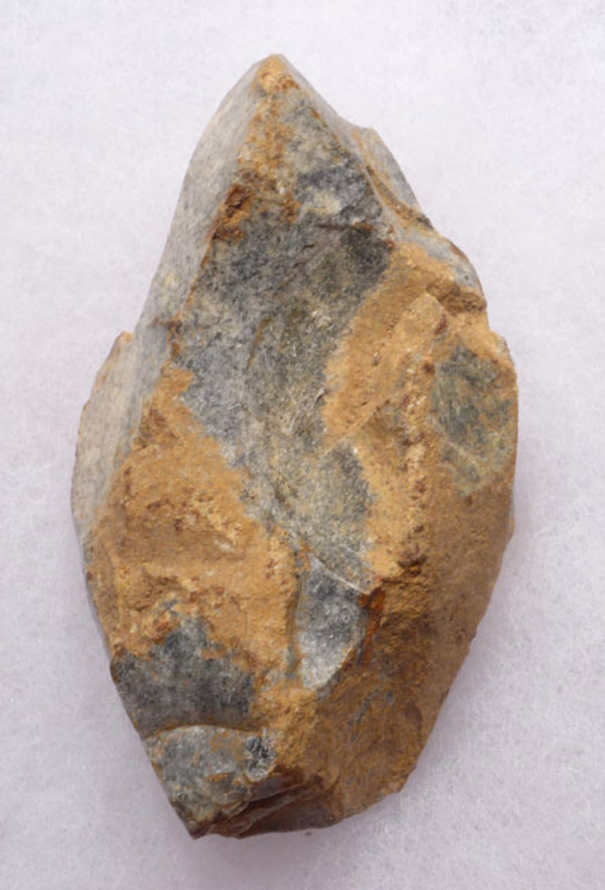 M345 - EXTENSIVELY USED MOUSTERIAN NEANDERTHAL BURIN GRAVER FLAKE TOOL FROM LE MOUSTIER TYPE SITE IN FRANCE