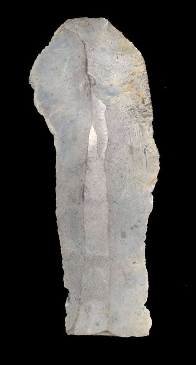 N161 - INTACT DANISH EUROPEAN NEOLITHIC FLINT KNIFE BLADE FROM THE FUNNEL NECKED BEAKER CULTURE